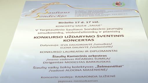 Vyks V tarptautinis Sauliaus Sondeckio jaunųjų smuikininkų, violončelininkų ir pianistų konkursas (VIDEO)