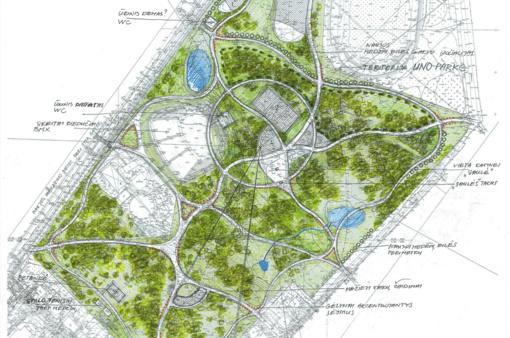 Centrinis Šiaulių parkas bus pritaikytas aktyvių šeimų pramogoms