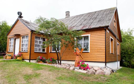 Kaip dažyti medinį namą?