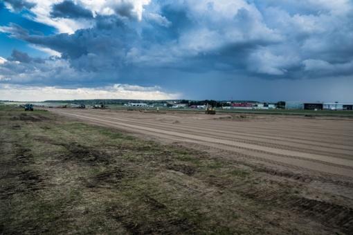 Vilniaus oro uoste verda paruošiamieji darbai