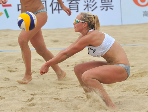 Tinklininkės I. Dumbauskaitė ir M. Povilaitytė Kinijoje dar kartą iškopė į pusfinalį!