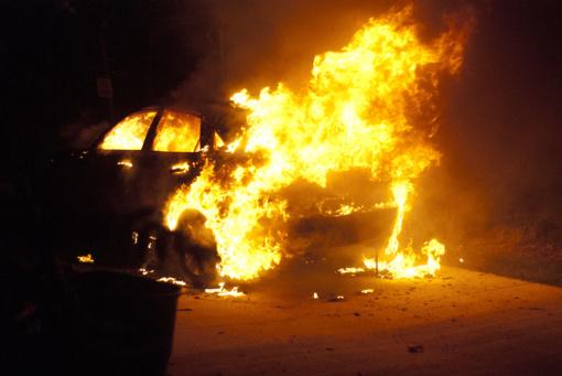 """Visagine vykdoma akcija """"Automobilis, ugnis, gesintuvas"""""""