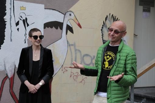 """""""Malonny"""" projekto gatvės piešiniai pristatyti visuomenei"""
