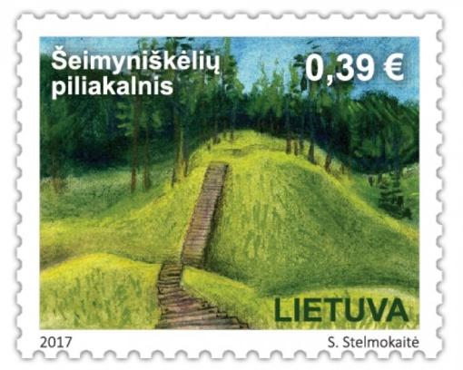 Pašto ženklas įamžins Šeimyniškėlių piliakalnį