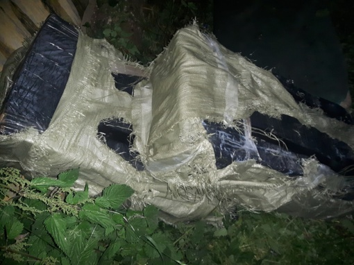 Adutiškyje pasieniečiai aptiko 4 tūkst. pakelių kontrabandinių rūkalų