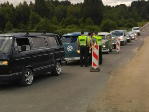 Praėjusį savaitgalį – sustiprintas kelių policijos dėmesys Žemaitijos kraštui