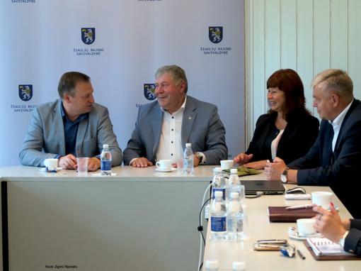 Alytaus rajono savivaldybės delegacijos vizitas Šiaulių rajono savivaldybėje