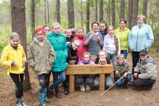 Alksniupių mokiniai keliavo po Dzūkijos nacionalinį parką