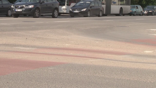 Prekybos centro statybų pėdsakai – ir miesto gatvėse (VIDEO)
