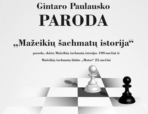 Tarptautinės šachmatų dienos proga, liepos 20 d. 17 val. Mažeikiuose draugiška šachmatų partija