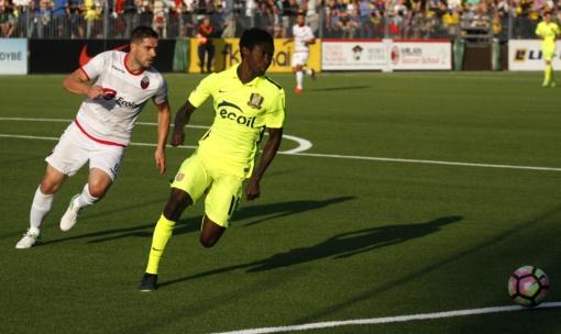 """""""Trakų"""" futbolininkai laimėjo pirmąsias Europos lygos trečiojo atrankos etapo rungtynes"""