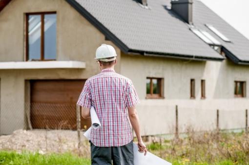 Per mėnesį gyvenamųjų pastatų statyba ir pastatų remontas brango 0,8 proc.