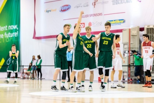Lietuvos 16-mečiai krepšininkai kovos dėl Europos jaunimo olimpinio festivalio aukso