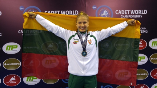 Imtynininkė K. Gaučaitė iškovojo Europos jaunučių imtynių čempionato bronzos medalį
