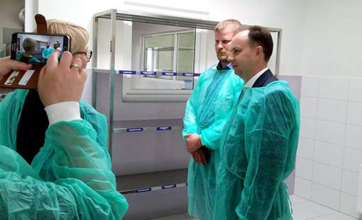 Radviliškio ligoninėje lankėsi LR sveikatos apsaugos ministras A. Veryga