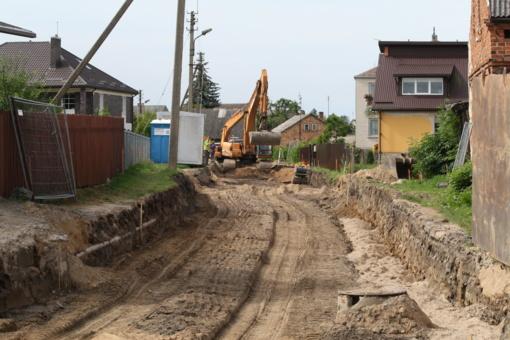 Kalvarijoje pradėti Seinų gatvės rekonstrukcijos darbai