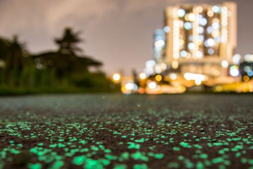 Singapūre– naktį šviečiančio tako projektas