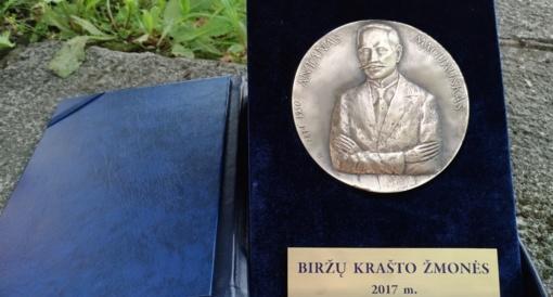 A. Macijausko medalis šiemet skiriamas biržiečiams