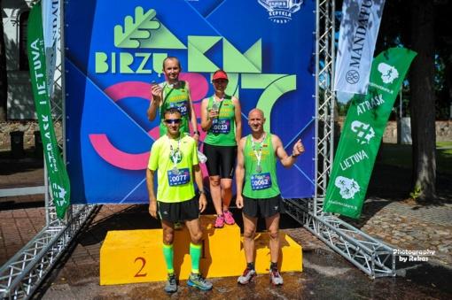 Pusmaratonio bėgimą Biržuose laimėjo A. Žukauskas ir G. Akmanavičiūtė