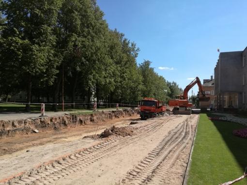 Pakruojo mieste - rekonstrukcijos darbai