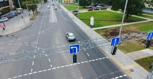 Rekonstruota Kalvarijų ir Apkasų gatvių sankryža tapo saugesnė