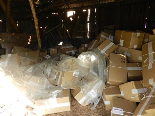 Varėnos rajone kontrabandininkai neteko didelio cigarečių krovinio