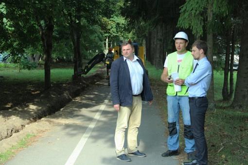 Mieste atnaujinama gatvių apšvietimo infrastruktūra