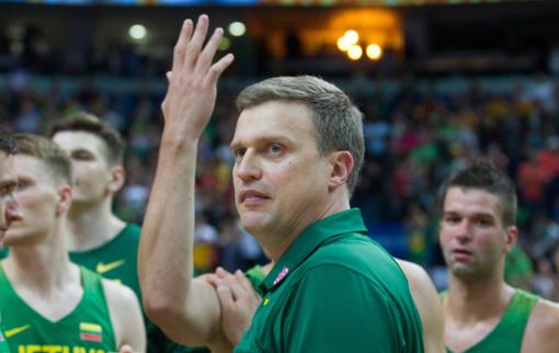 Lietuvos rinktinės treneris D. Adomaitis: galvojame tik apie pirmąsias rungtynes