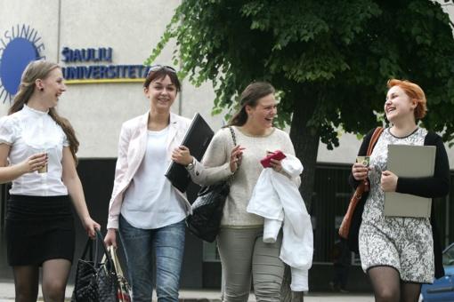 Šiaulių universiteto gretas papildys beveik 600 studentų