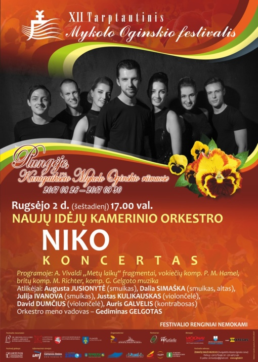 Tarptautinio Mykolo Oginskio festivalio scenoje – Naujų idėjų kamerinis orkestras NIKO