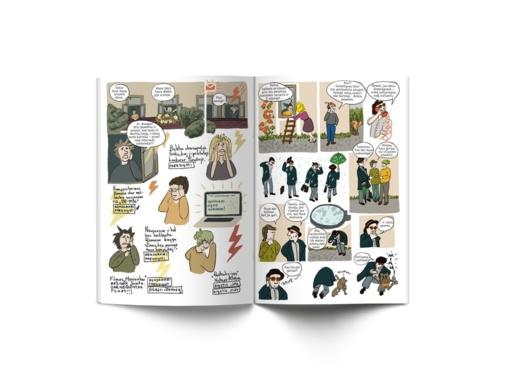 """Keliaujantis iliustracijų lagaminas """"Komiksai"""""""