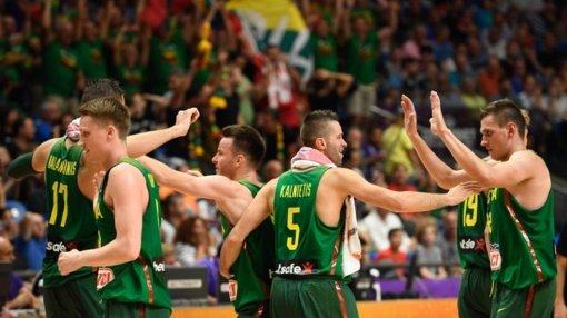 Lietuviai Europos krepšinio čempionate sutriuškino ukrainiečius