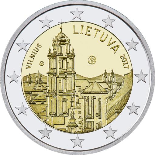 Apyvartoje– 2 Eur monetos, skirtos Vilniui