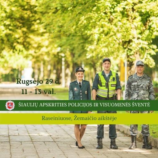 Raseiniuose - Šiaulių apskrities policijos ir visuomenės šventė