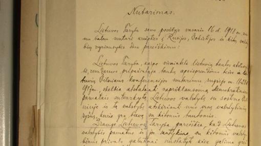 Vokietija Vasario 16-osios aktą Lietuvai ketina perduoti penkeriems metams