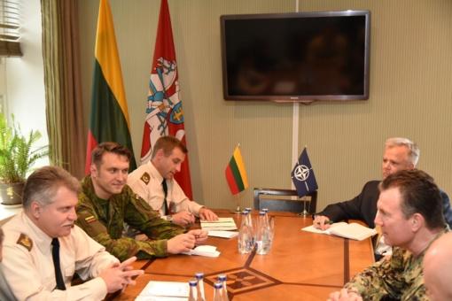 NATO Specialiųjų operacijų vadavietės vadas susitiko su Lietuvos kariuomenės vadovybe