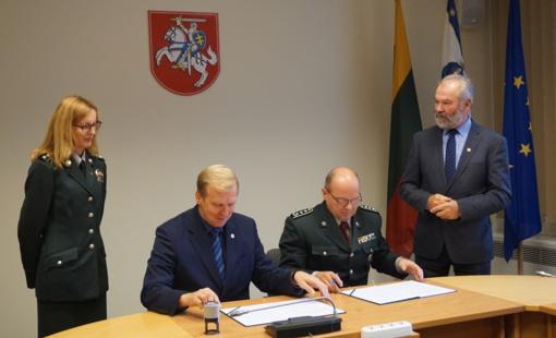 Sutartimi įtvirtintas bendradarbiavimas su VSAT Pakrančių apsaugos rinktine