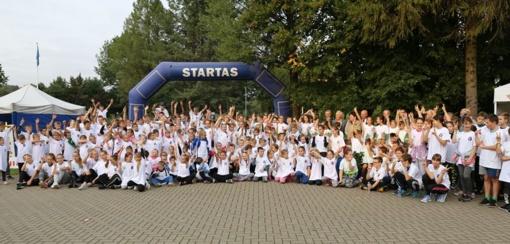 Olimpietis sukvietė Lietuvos vaikus į bėgimą Kačerginėje (FOTO)