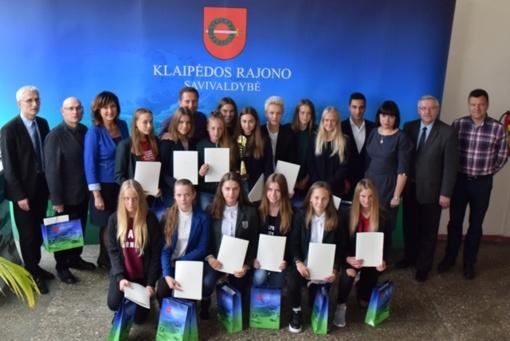 Savivaldybėje apdovanotos Lietuvos čempionės
