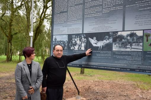 Skaudus žydų tautos likimas įamžintas informacinėse lentose (FOTO)