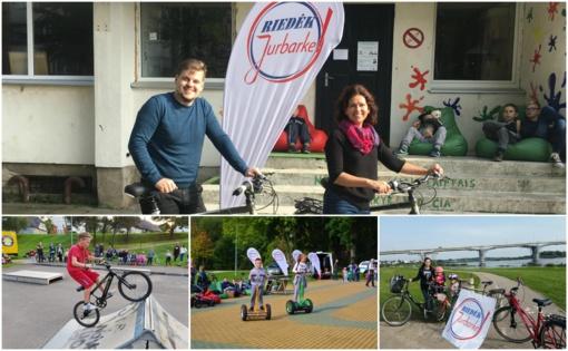 """Jurbarko dviračių trasas išbandė """"Riedėk Jurbarke"""" dalyviai (FOTO)"""
