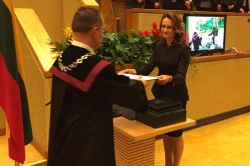 Šiaulietės Seimo narės Viktorijos Čmilytės-Nielsen šeimą ketvirtąkart aplankys gandrai