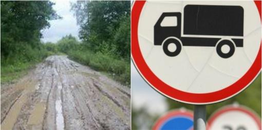 Kupiškio rajono keliuose ribojamas krovininio transporto eismas