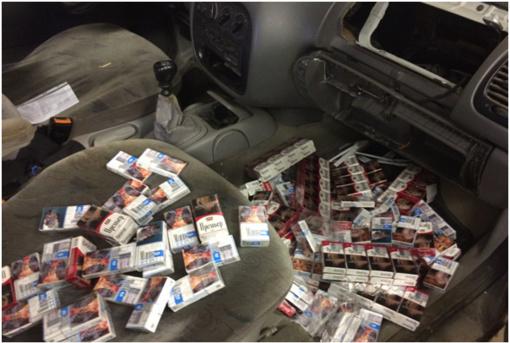 Šalčininkų rajono gyventojo mašinoje – 2 500 pakelių kontrabandos
