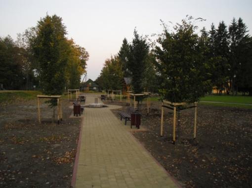 Notėnuose įrengta laisvalaikio ir poilsio zona