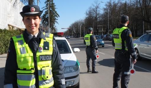 Policija šį savaitgalį stiprina patruliavimą