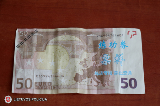 Su netikrais banknotais įkliuvo ir šakiečiai