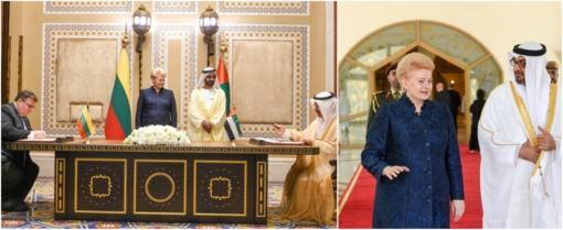 Pasirašytas susitarimas dėl Lietuvos ir Jungtinių Arabų Emyratų ekonominio ir techninio bendradarbiavimo