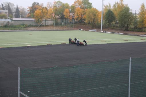Lietuvos Futbolo Federacija Širvintų stadionui skyrė dangą