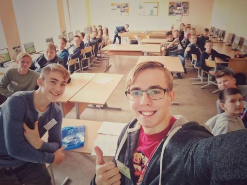 """Tarptautinio vokiečių k. diplomo mokymai ir """"Ateities inžinerijos"""" kūrybinės dirbtuvės"""